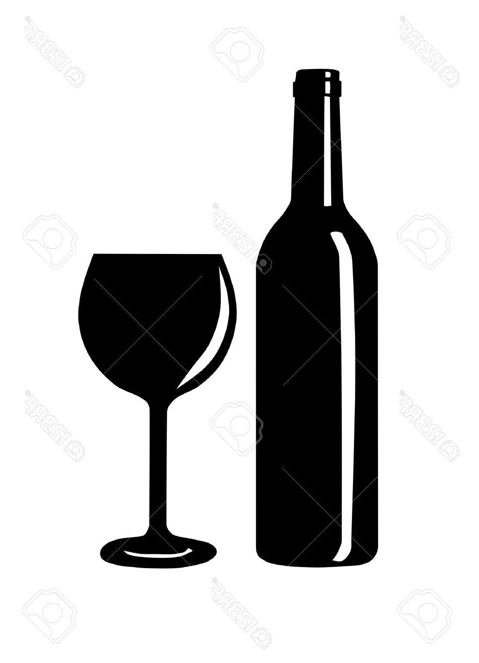 Wine butler and glass clipart clipart royalty free library Top Wine Silhouette Vector Design » Free Vector Art, Images ... clipart royalty free library