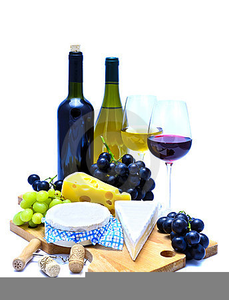 Wine cheese clipart free