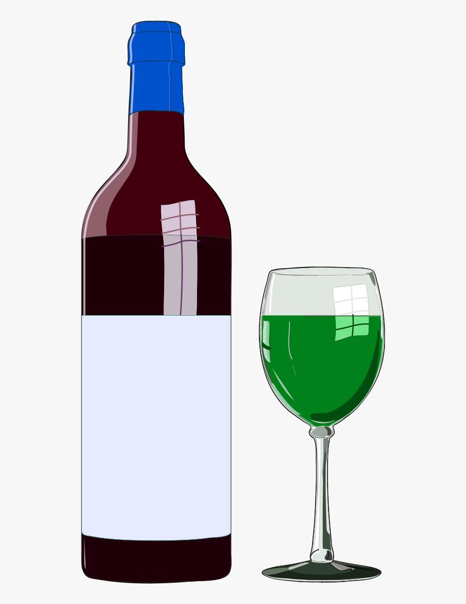 Wine glass or bottle clipart freeuse library Wine Bottle And Wine Glass - Wine Clipart #78355 - Free ... freeuse library