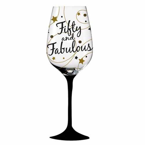 Wine glass 60 clipart banner royalty free download Fifty and fabulous 50th birthday wine glass - got one of ... banner royalty free download