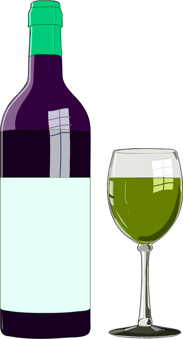 Wine glass or bottle clipart graphic black and white Free Wine Bottle And Glass, Download Free Clip Art, Free ... graphic black and white