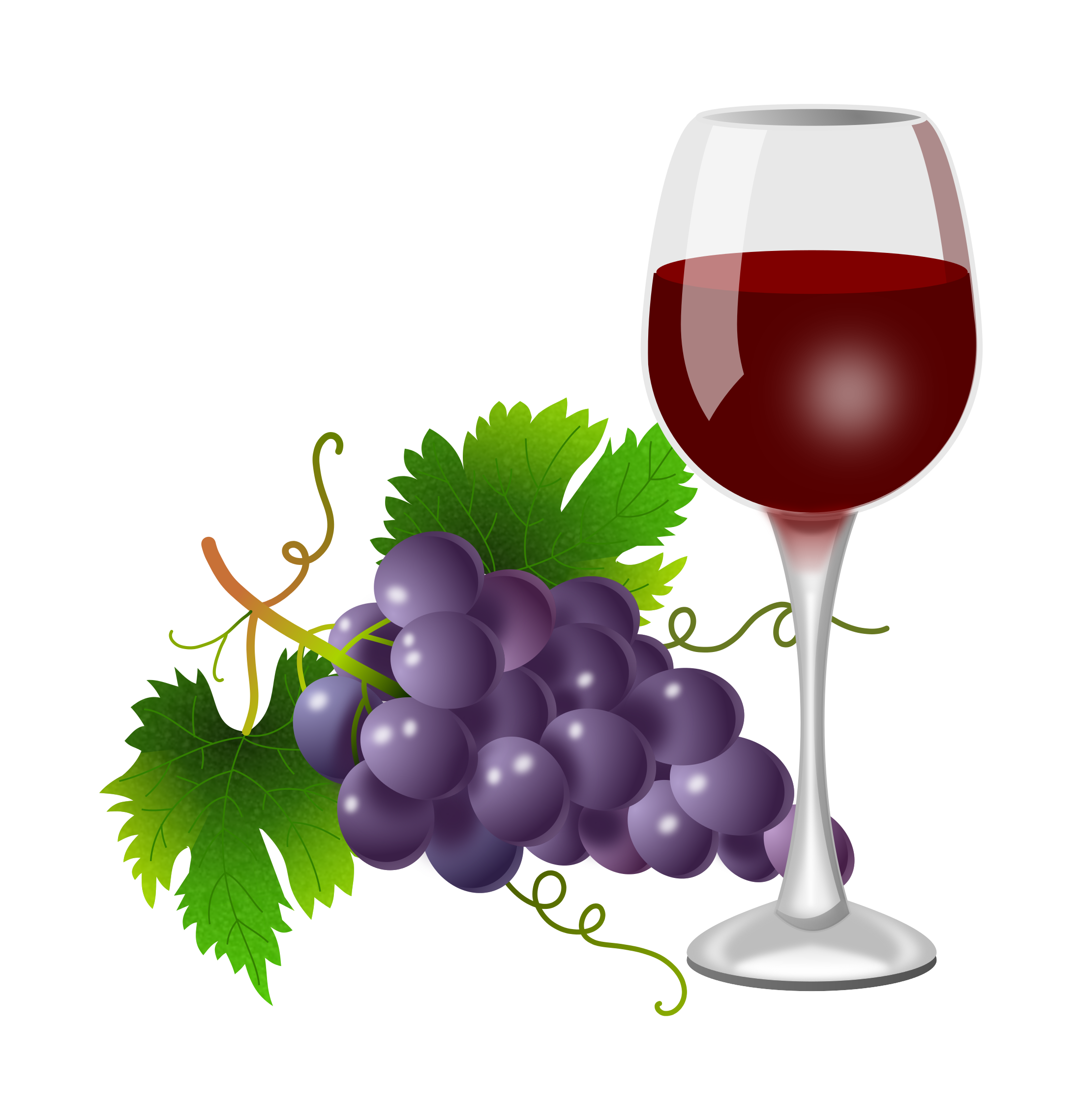 Wine glass with dog ears clipart clip art transparent library Purple grapes and wine glass 2200x2276 | Clipart Everyday Foods ... clip art transparent library