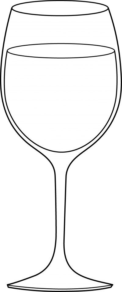Wine glass with dog ears clipart vector black and white download Wine Glass Clipart – ClipartAZ – Free Clipart Collection vector black and white download