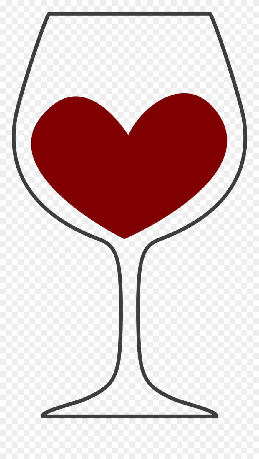 Wine glass with wine clipart