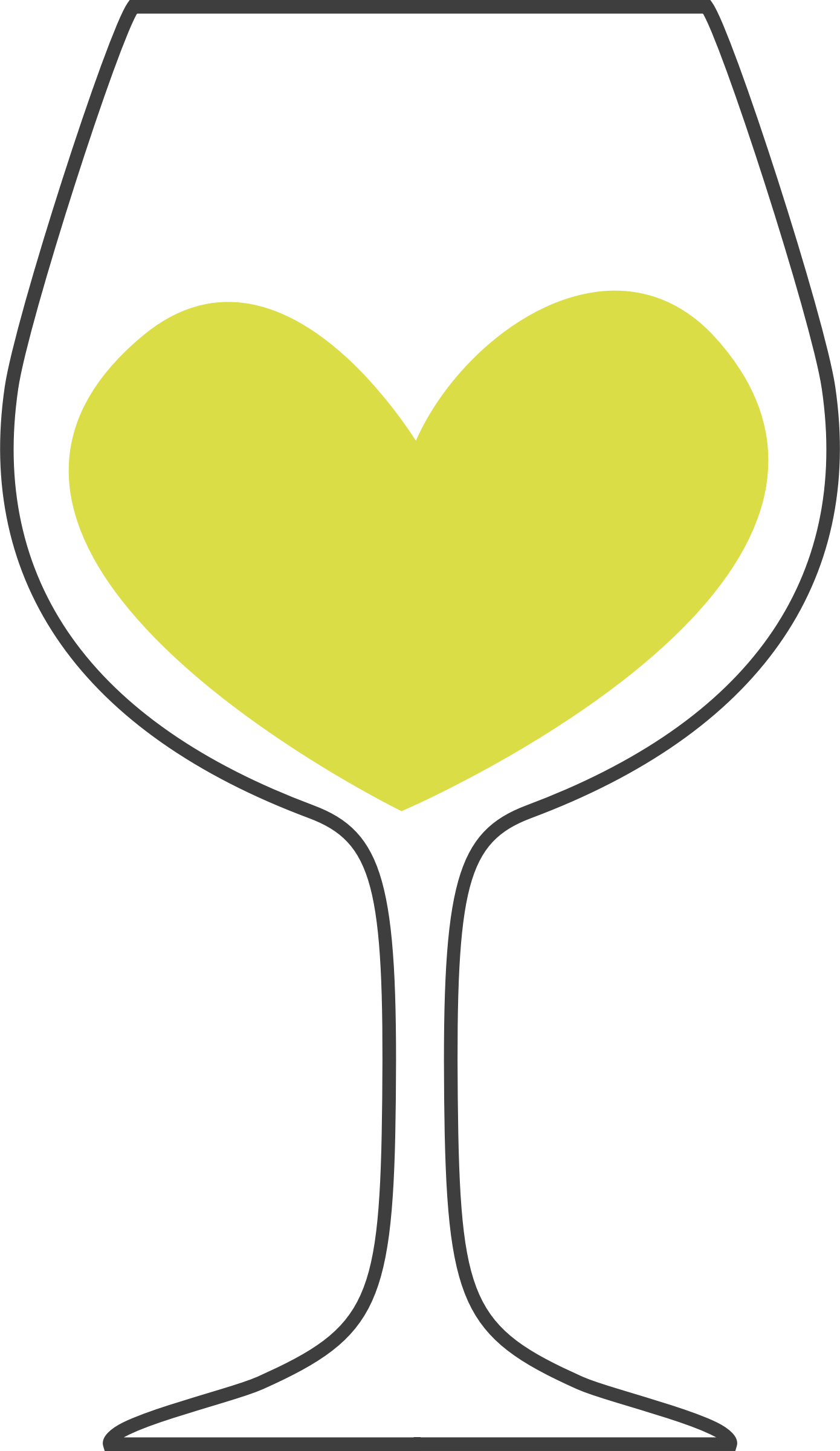 Wine heart clipart black and white stock Clipart - Love of white wine black and white stock