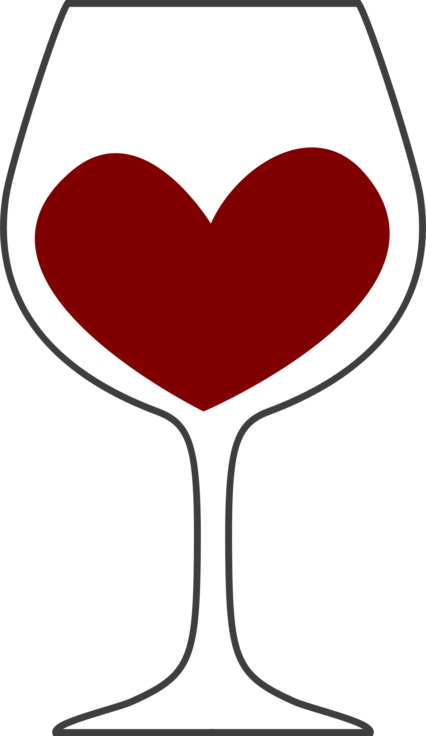 Wine heart clipart graphic free stock Clipart - Love of red wine graphic free stock