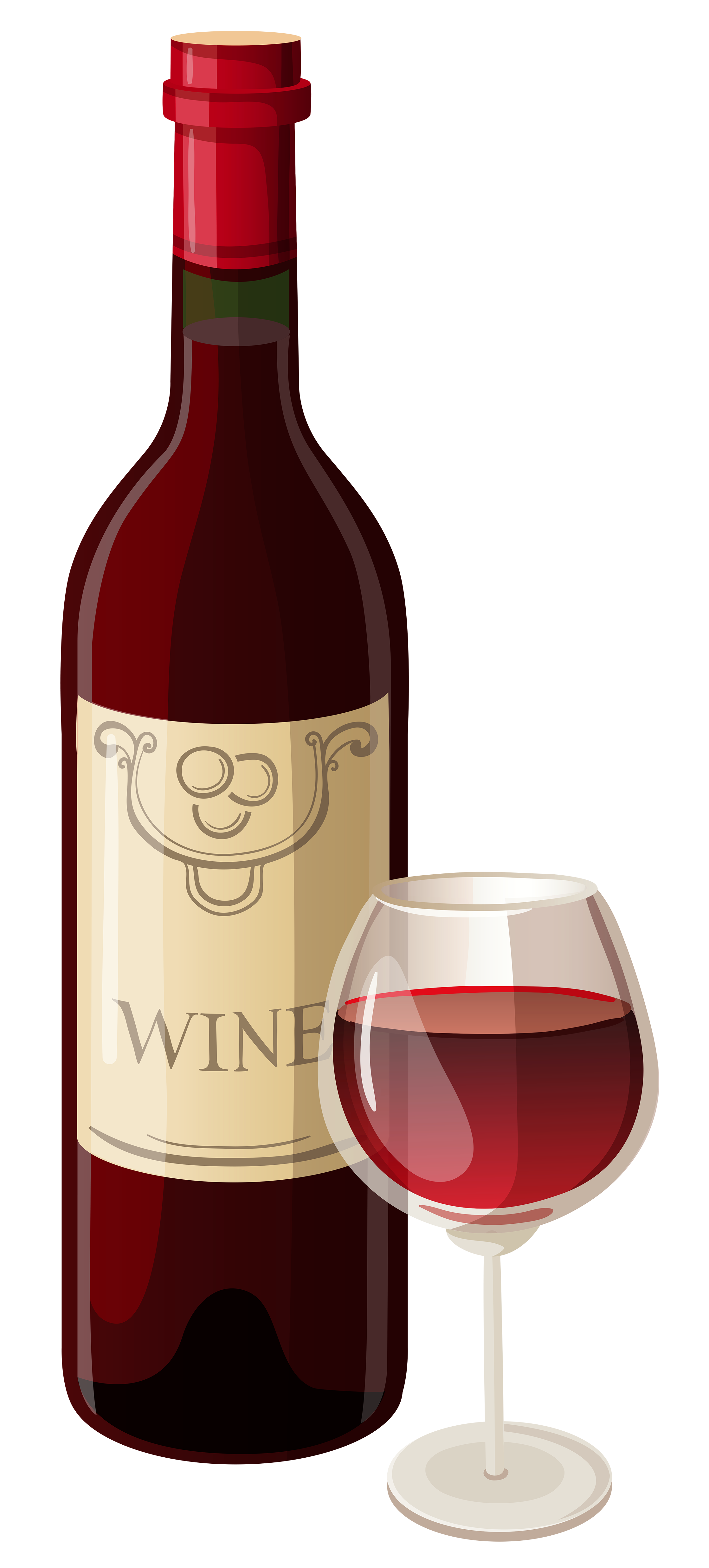 Wine hi resolution clipart banner library Wine Bottle and Glass PNG Vector Clipart | Gallery ... banner library