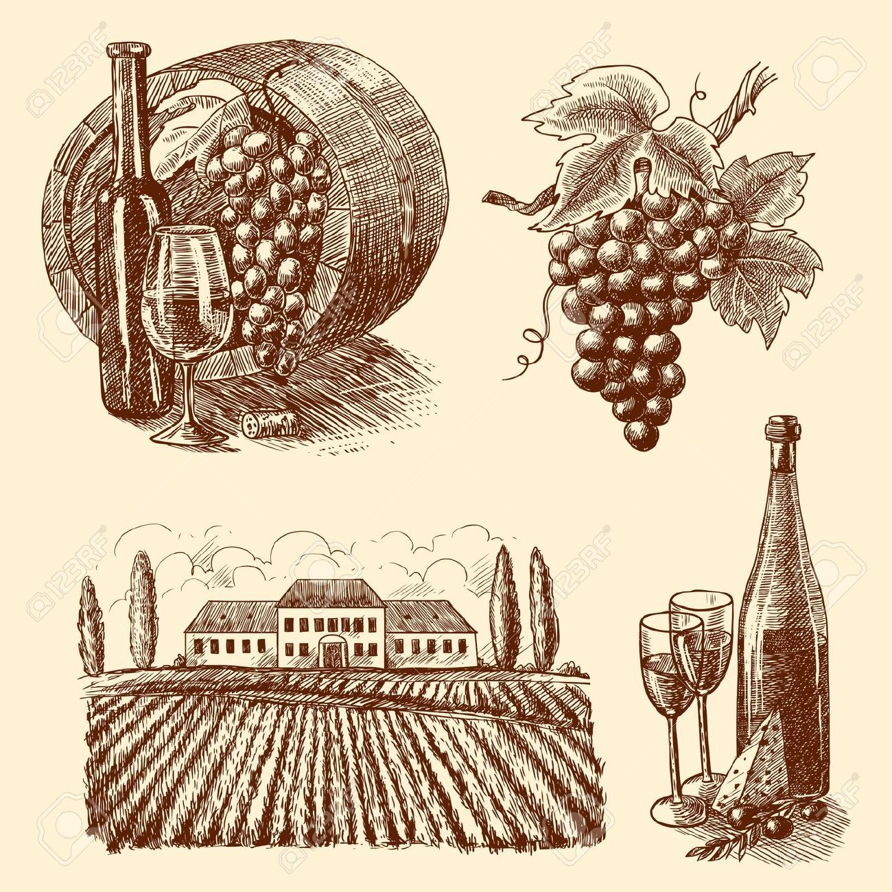 Wine label artwork clipart clip art freeuse library Pin by Monica Philosophergurl on The finer things ... clip art freeuse library