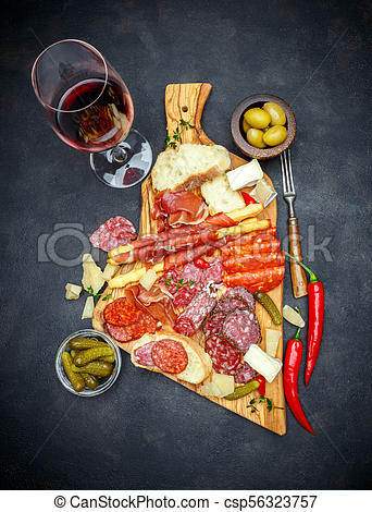 Wine meat and cheese clipart image black and white library meat and cheese plate and wine with sausage, prosciutto, olives image black and white library