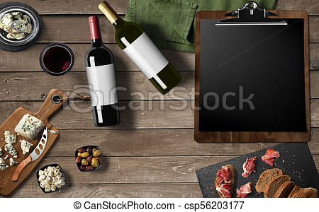Wine meat and cheese clipart clipart free download Restaurant menu design, Red wine, White wine, cheese camembert, prosciutto  meat on old wooden background. Appetizer, gourmet. clipart free download