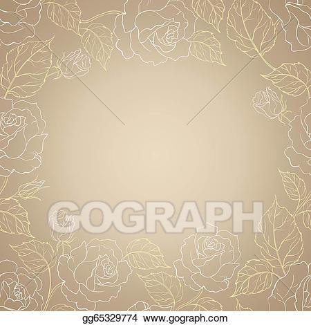 Wine sepia clipart picture download Stock Illustration - Sepia romantic frame. Clip Art ... picture download