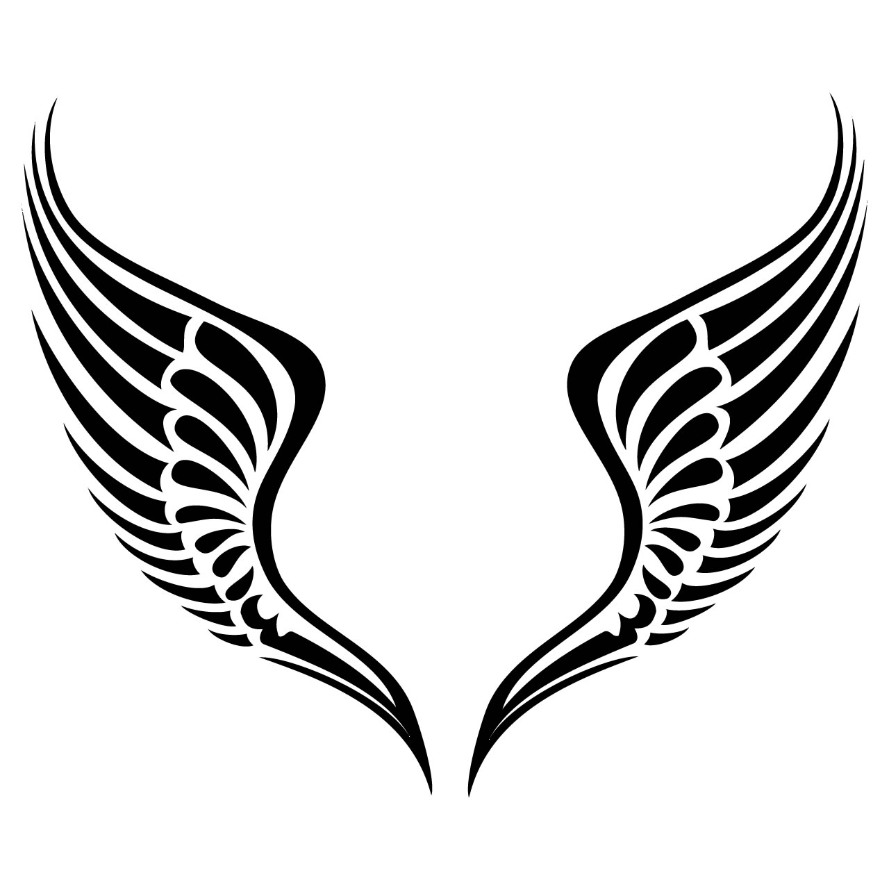 Wings logo clipart image black and white stock Baby Angel Wings Clip Art   Free download best Baby Angel ... image black and white stock