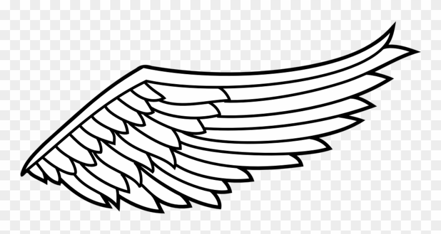 Wing image clipart clipart freeuse library Eagle Black And White Clip Art At Clker Com Gallery - Angel ... clipart freeuse library