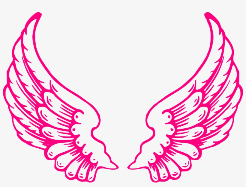 Wing image clipart banner black and white library Dark Angel Clipart Feather Wing - Pink Angel Wings Clip Art ... banner black and white library