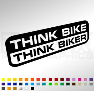 Wing vents windows car clipart image black and white download Details about Think Bike Think Biker Sticker Decal For Car Van Window  Bumper - Raise Awareness image black and white download