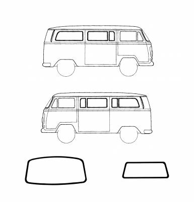 Wing vents windows car clipart image freeuse library VW BUS - VW LATE BUS - 1969 VW BUS - EXTERIOR - Window Rubber image freeuse library
