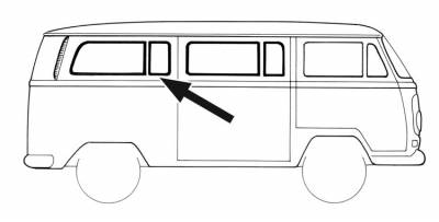 Wing vents windows car clipart clipart download VW BUS - VW LATE BUS - 1969 VW BUS - EXTERIOR - Window Rubber clipart download
