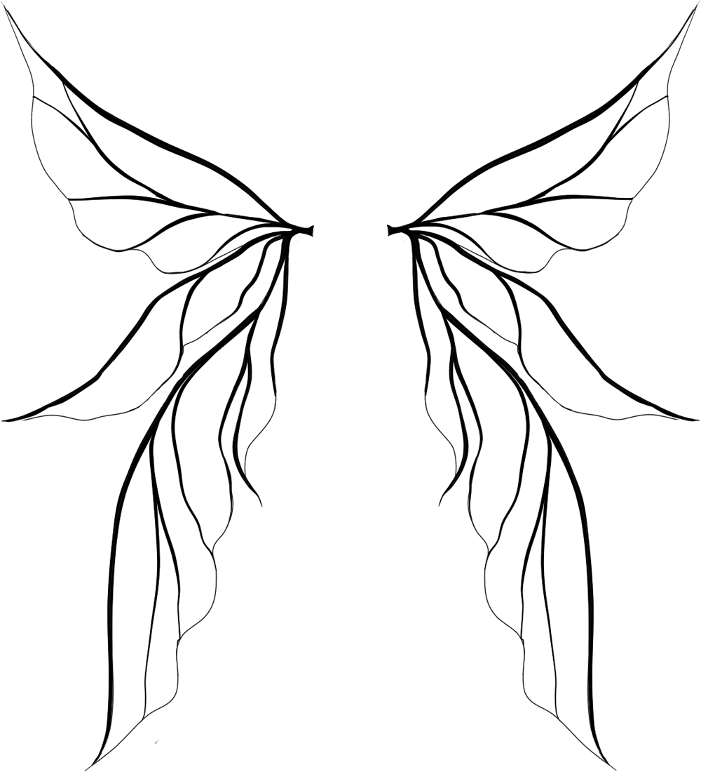 Tinkerbell Wings Drawing | Clipart Panda - Free Clipart Images ... png download