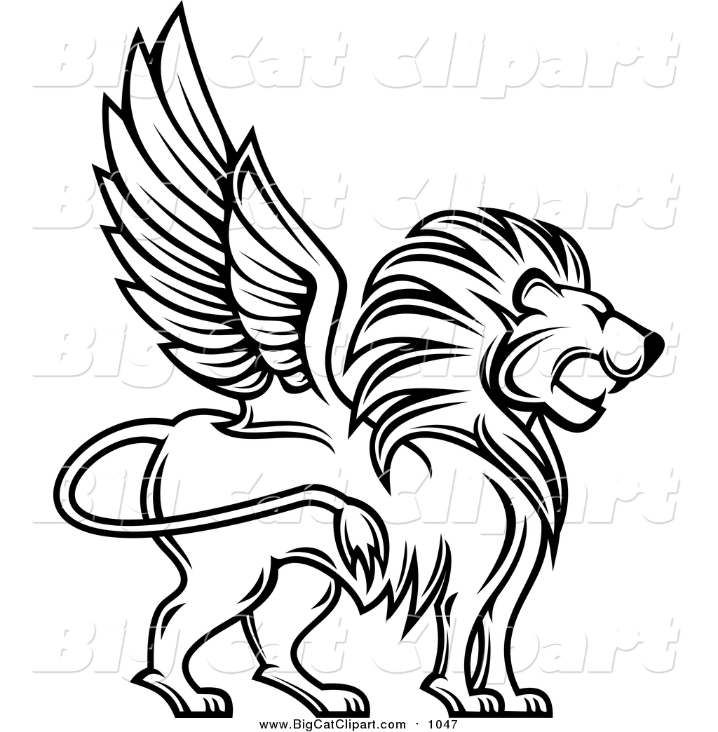 Winged lion clipart sit jpg black and white download Lion Images Black And White | Free download best Lion Images ... jpg black and white download