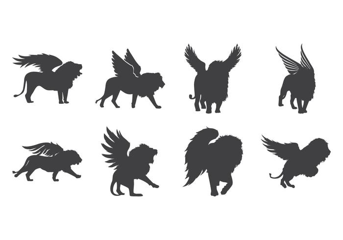 Winged lion clipart sit clipart royalty free library Free Winged Lion Silhouette Vector - Download Free Vector ... clipart royalty free library