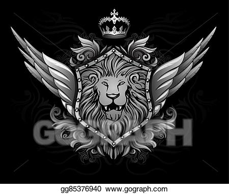 Winged lion clipart sit clip art free download Vector Art - Winged lion insignia . Clipart Drawing ... clip art free download