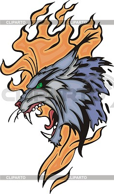 Winged lynx clipart