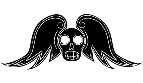 Winged skull clipart graphic black and white download Free Free Winged Skull Vector Arts Clipart and Vector ... graphic black and white download