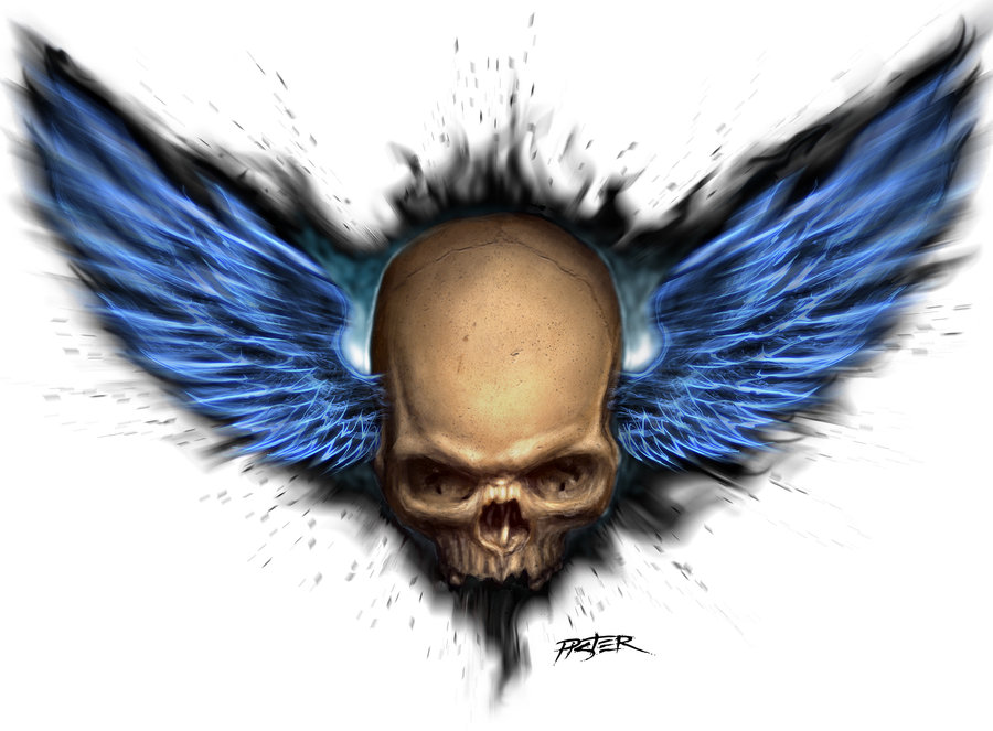 Winged skull clipart svg black and white library Free Skull With Wings, Download Free Clip Art, Free Clip Art ... svg black and white library