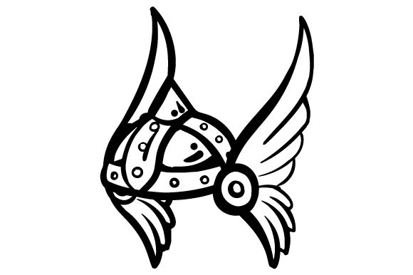 Winged viking helmet clipart png library library Cartoon Winged Viking Helmet png library library
