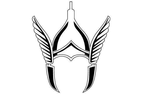 Winged viking helmet clipart transparent Realistic Winged Viking Helmet transparent