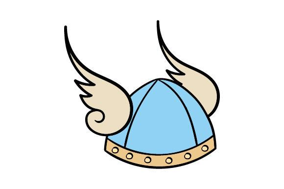 Winged viking helmet clipart graphic free library Winged Viking Helmet graphic free library