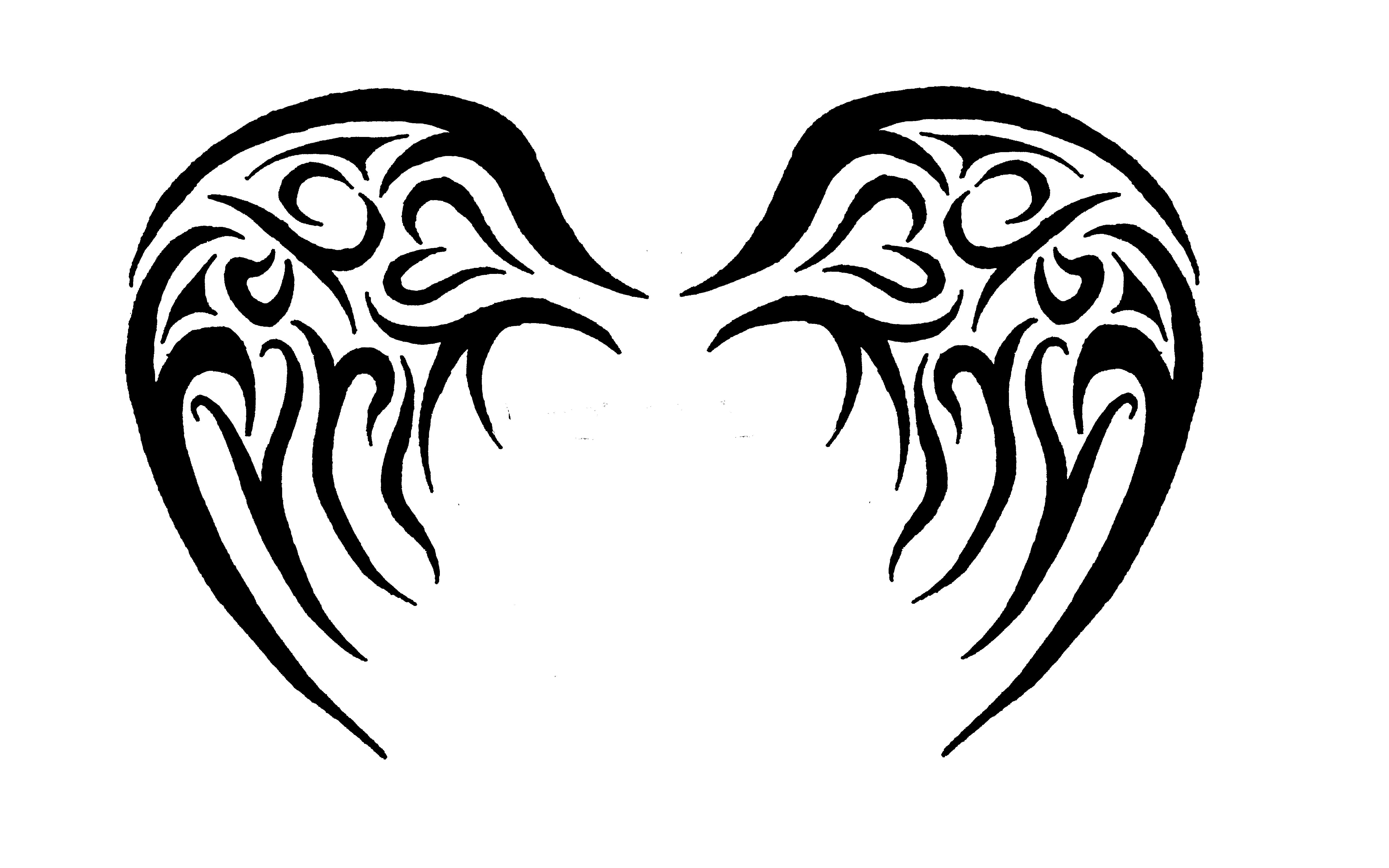 Wings and halo with watercolor clipart tattoo design clip download deviantART: More Like baby angel tribal wings by - ClipArt ... clip download