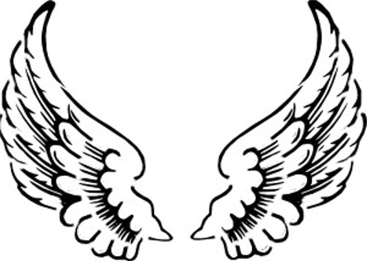 Wings angel clipart image black and white download Black And White Angels Clipart | Free download best Black ... image black and white download