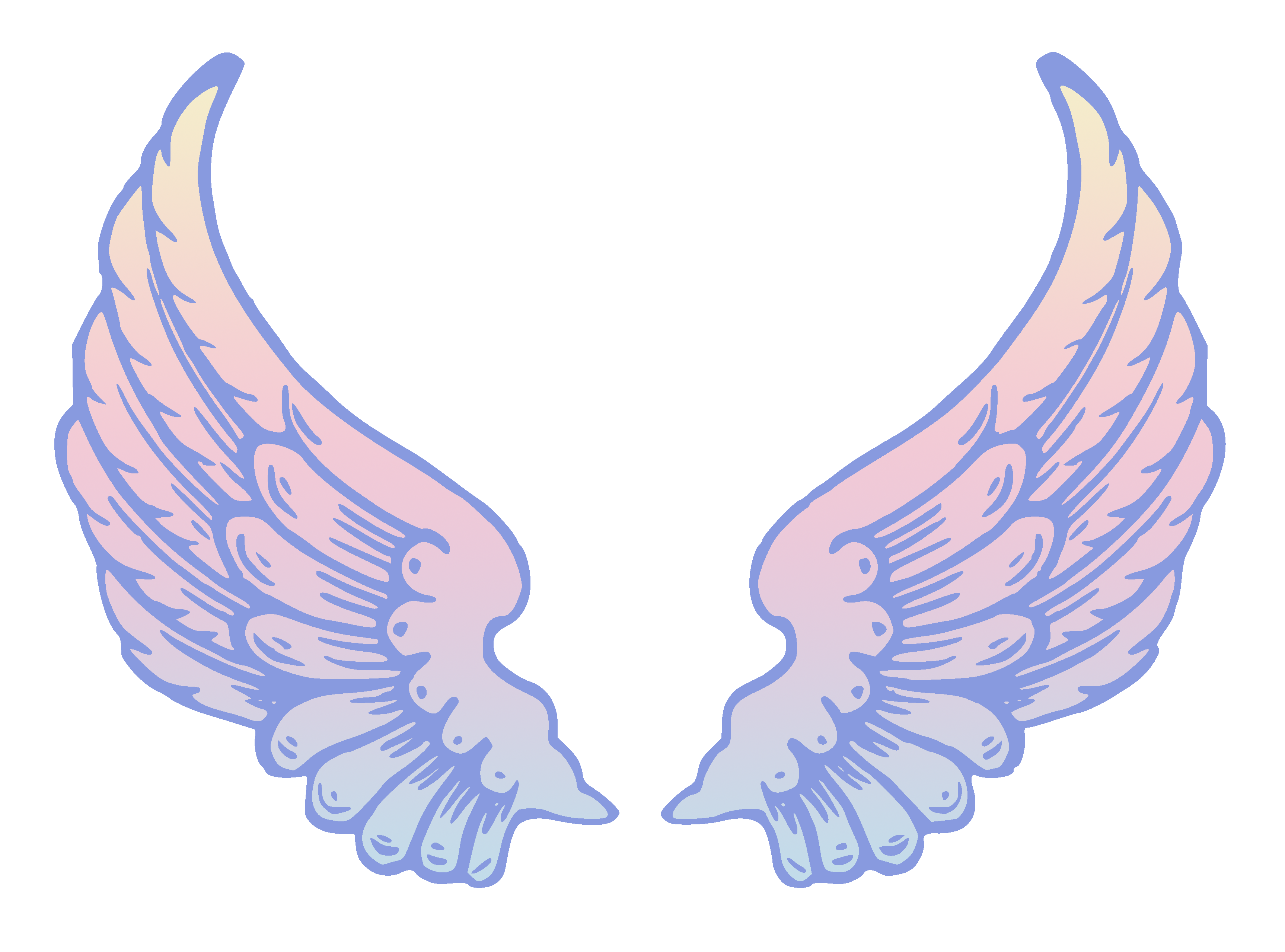 Wings angel clipart clipart download Public Domain Pastel Angel Wings - Free Clip Art clipart download