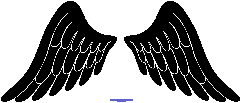 Wings black clipart clip art free stock Angel Wings Black Clip Art - Sweet Clip Art clip art free stock
