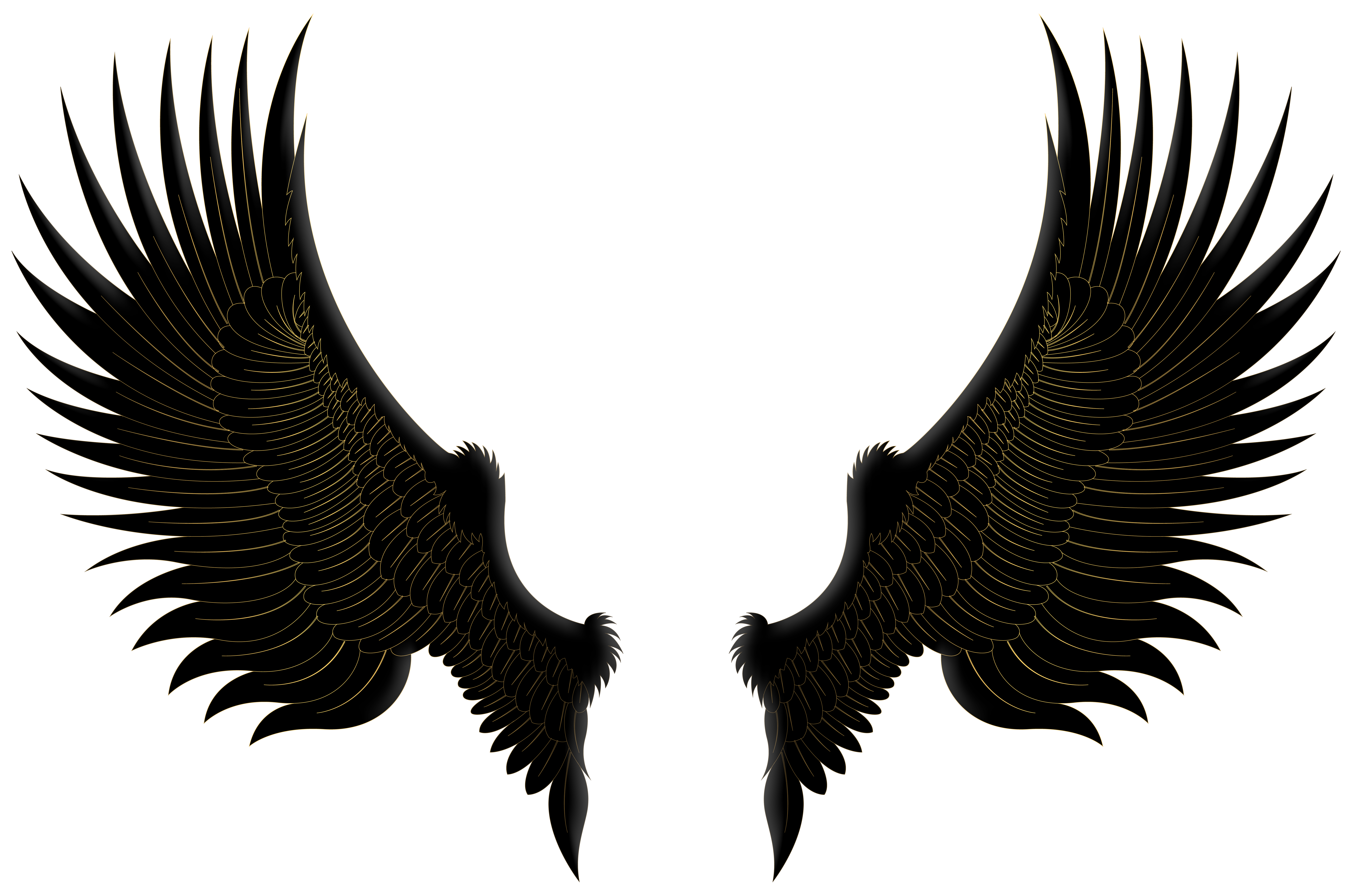 Wings black clipart graphic free Black Gold Wings PNG Clip Art Image | Gallery Yopriceville ... graphic free