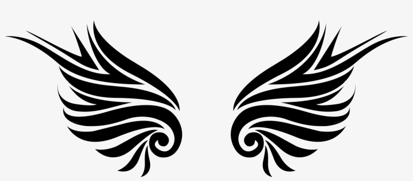 Wings clipart 220 clip art royalty free library Flame Clipart Tribal - Tribal Wings Png - 2439x951 PNG ... clip art royalty free library