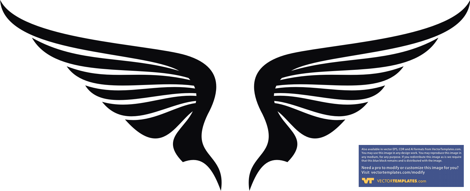 Wings black clipart banner black and white library Wings | Free Images at Clker.com - vector clip art online ... banner black and white library