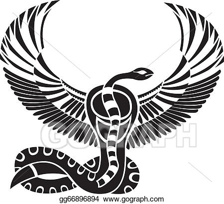 Wings clipart vector egyptian jpg free EPS Vector - Egyptian god of death, snake. Stock Clipart ... jpg free
