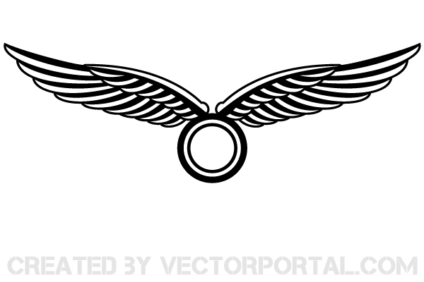 Wings logo clipart clip free library Wings Logo Design Vector clip free library