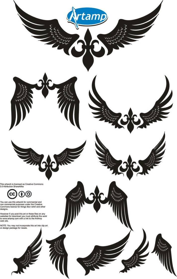Wings resale shope image clipart clip art download Simple Wings Vector Pack by artamp on DeviantArt clip art download