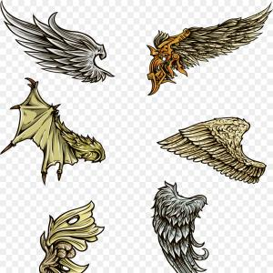 Wings surrounding clipart svg royalty free download Set Eagle Wings American Flag   SOIDERGI svg royalty free download
