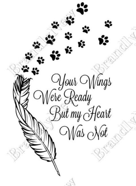 Wings tattoos clipart paw print clip art freeuse Your Wings Were Ready But My Heart Was Not Paw Prints Design ... clip art freeuse