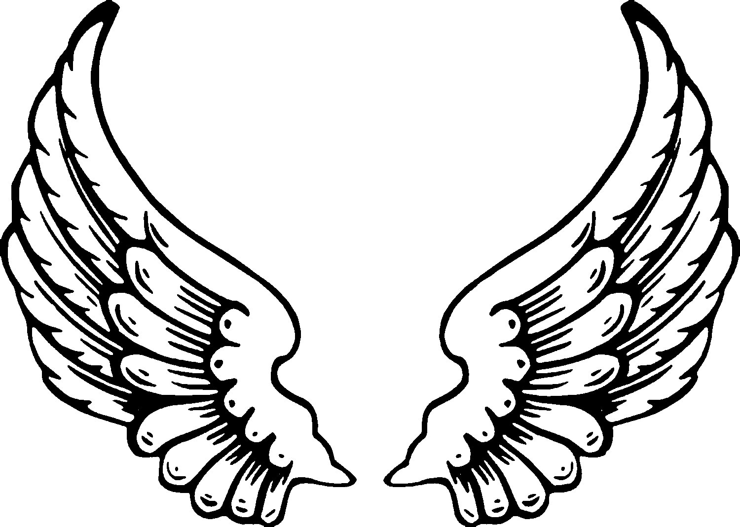 Wings tattoos clipart paw print banner free library Free Free Pictures Of Angels With Wings, Download Free Clip ... banner free library