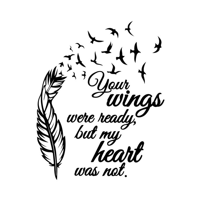 Wings were ready heart was not clipart picture free library Wings Were Ready but my heart graphics design SVG DXF EPS Cdr Ai Vector Art  Clipart instant download Digital Cut Print File shirt Vinyl picture free library