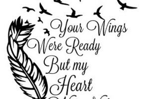 Wings were ready heart was not clipart clip free stock Your wings were ready but my heart was not clipart » Clipart ... clip free stock