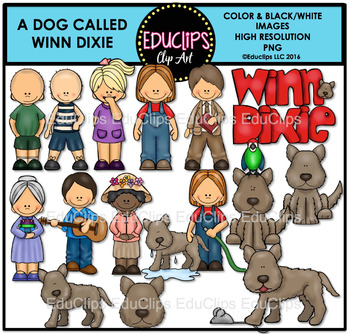Winn dixie clipart png free stock A Dog Called Winn Dixie Clip Art Bundle {Educlips Clipart} png free stock