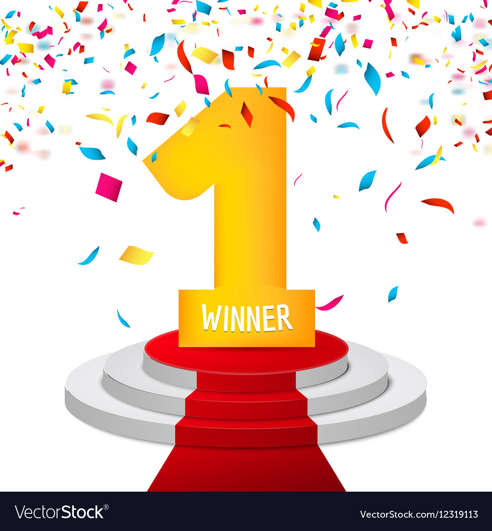 Winner background free clipart graphic stock Winner number one confetti background Prize award graphic stock