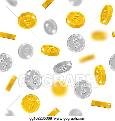Winner gold coin clipart vector free download Vector Art - Flying gold and silver dollars coins. Clipart ... vector free download