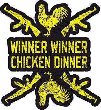 Winner winner chicken dinner clipart banner free WINNER WINNER CHICKEN DINNER - Sticker - Perfect for: Amazon ... banner free